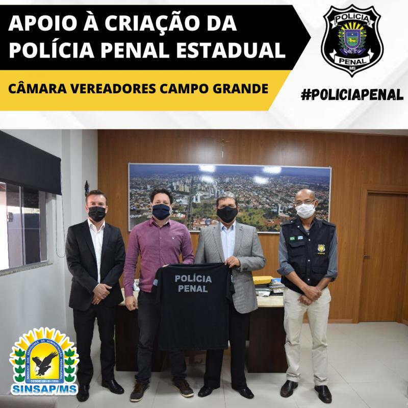 O Presidente da Câmara dos Vereadores de Campo Grande, João Rocha, garantiu apoio à CRIA��O DA POL�CIA PENAL ESTADUAL