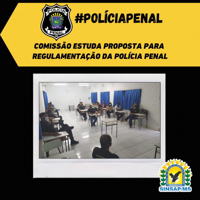 Comissão estuda proposta para regulamentação da Polícia Penal em MS