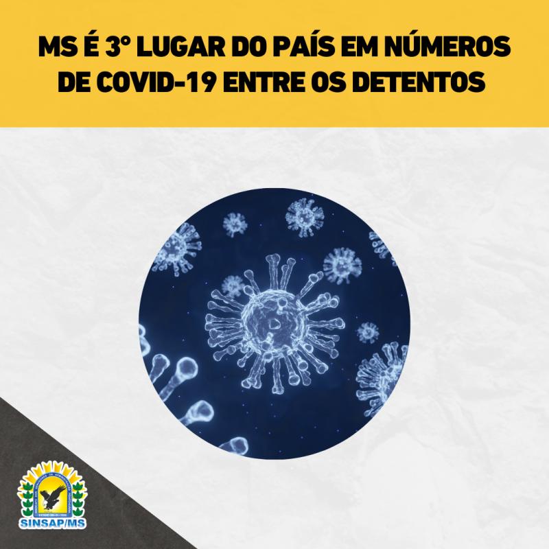 MS é 3° lugar do país em números de Covid-19 entre os detentos