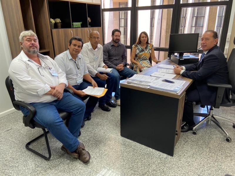 SINSAP/MS se reúne com deputados para debater criação da Polícia Penal Estadual