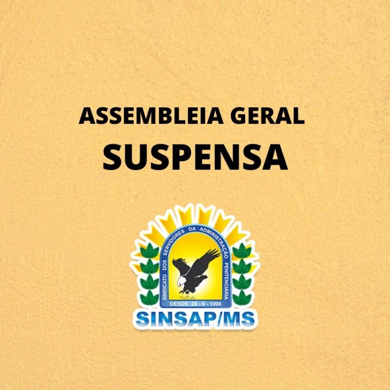 SINSAP/MS suspende Assembleia Geral por conta do coronavírus