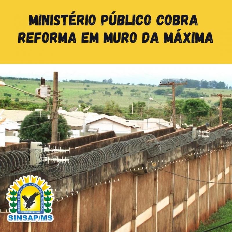Ministério Público cobra reforma em muro da Máxima
