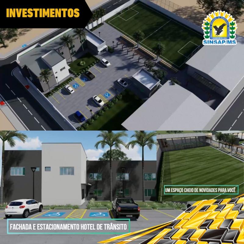 SINSAP/MS investe em construção de novo Hotel de Trânsito para os policiais penais