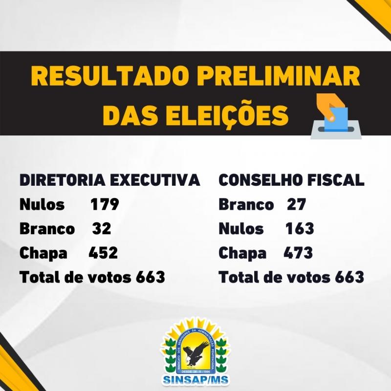 Resultado Preliminar das Eleições