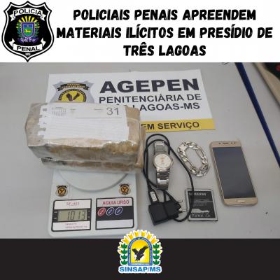 Policiais Penais apreendem materiais ilícitos em presídio de Três Lagoas